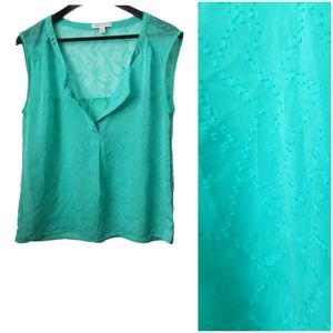 American Eagle women's turquoise sheer blouse